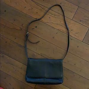 Black leather JCrew woman's purse